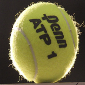 Fuzzy tennis ball.