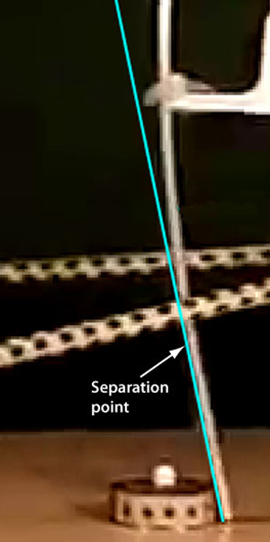Kick point as location where bending begins.