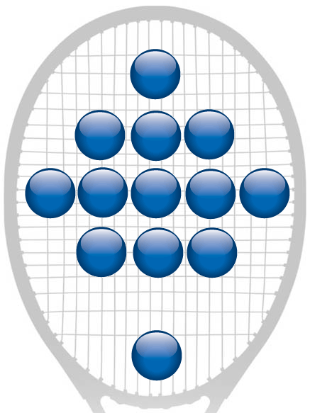Racquet background image.